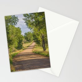 Summer Country Road, Fort Clark, North Dakota 2 Stationery Cards