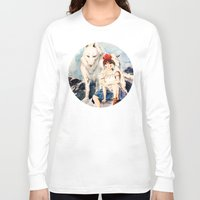 princess mononoke Long Sleeve T-shirts featuring Princess Mononoke by Tiffany Willis