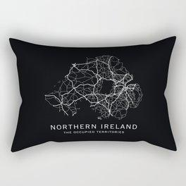 Northern Ireland Road Map Rectangular Pillow