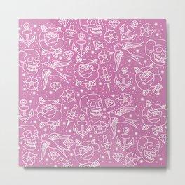 Pink Flash Metal Print