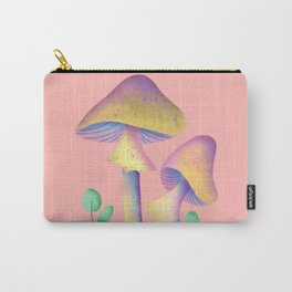 Magic Mushroom with leaves  Carry-All Pouch