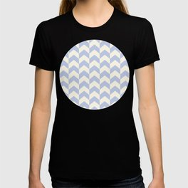 Light Blue Arrow Chevron Pattern T-shirt