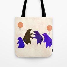 A sleepy bear party Tote Bag