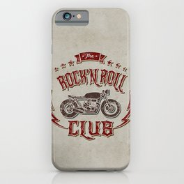 Rock 'n Roll Motorcycle Club iPhone Case