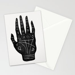 Palm Reading Chart - Black on White Stationery Cards