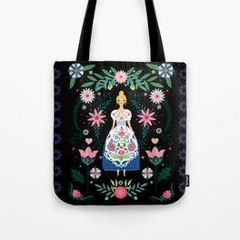 Folk Art Forest Fairy Tale Fraulein Tote Bag