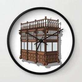 Colonial Balcony - Balcon colonial Wall Clock