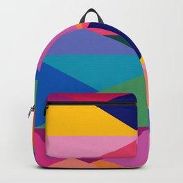 Geometric Color Block Backpack