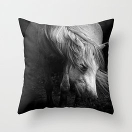 Pregnant Dartmoor Pony Mare Throw Pillow