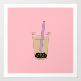 Bubble Tea Pink Art Print