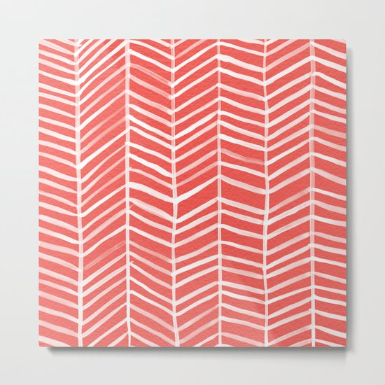 Coral Herringbone by catcoq
