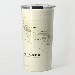 Hawaiian Islands [vintage inspired] map print Travel Mug