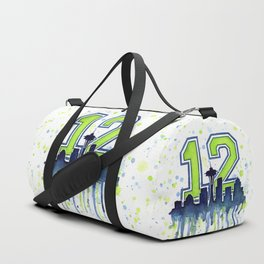 Seattle 12th Man Fan Art Seattle Space Needle Duffle Bag
