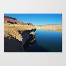 Coloured rocky shore of Colorado River Canvas Print