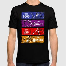 The Good, The Smart, The Bad and The Hungry Black Mens Fitted Tee X-LARGE