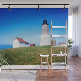 The Point Judith Light is located on the west side of the entrance to Narragansett Bay Wall Mural