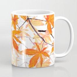 orange maple leaves watercolor Coffee Mug