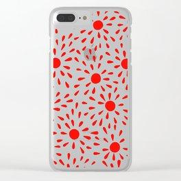 Red sunburst Clear iPhone Case