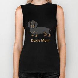 Cute Black Tan Dachshund Dog Doxie Mom Biker Tank