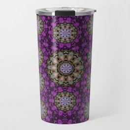 ornate heavy metal stars in decorative bloom Travel Mug
