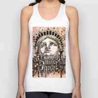 new york Tank Tops featuring new york new york by Bekim ART