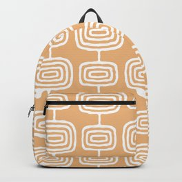 Mid Century Modern Atomic Rings Pattern 731 Harvest Gold Backpack