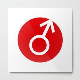 Male Symbol Metal Print