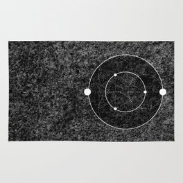 Circle Moon Texture Rug