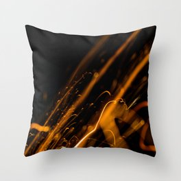 Blasting Away Throw Pillow