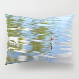 Fishing float on the water Pillow Sham