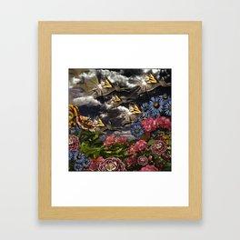 Lightning Bunny Season Framed Art Print