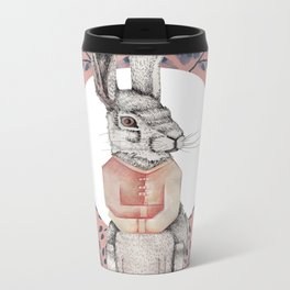 Loony Rabbit Metal Travel Mug