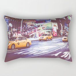 Time Square taxis Rectangular Pillow
