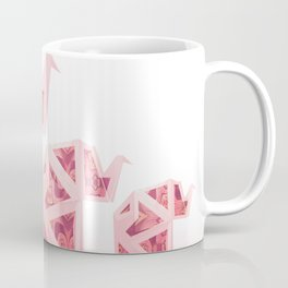Pink Origami Elephant Tribal Pattern Coffee Mug