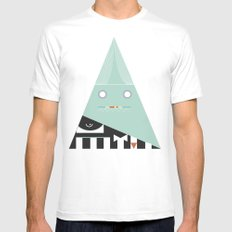 elegantes Dreieck MEDIUM Mens Fitted Tee White