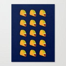 Pixel Taco Canvas Print