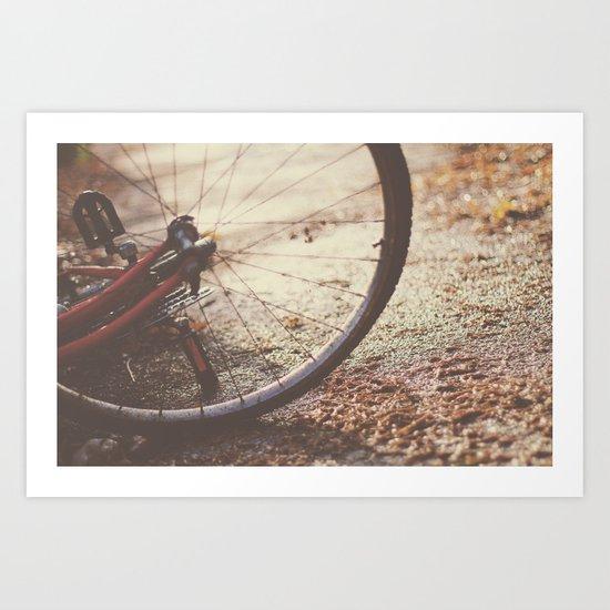 Bike Spokes  Art Print
