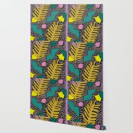 Colourful Palm Cut-Out Wallpaper