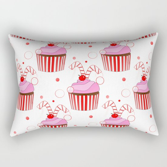Christmas Cupcakes Rectangular Pillow