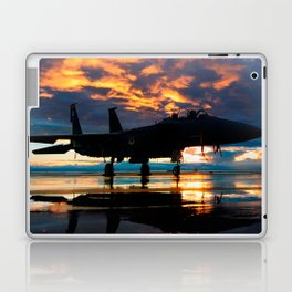 Fighter Jet Airplane at Sunset Military Gifts Laptop & iPad Skin
