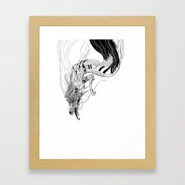 Falling dragon Framed Art Print