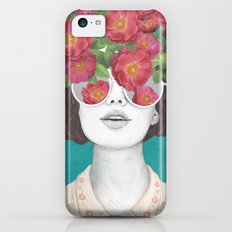 The optimist // rose tinted glasses iPhone 5c Slim Case