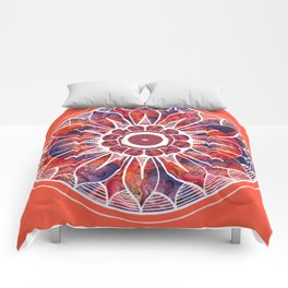 White Flowerdrum Comforters