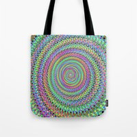 disco Tote Bags featuring disco by Maureen Popdan