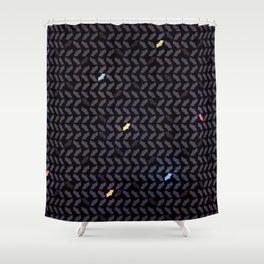 Batstooth Pattern Shower Curtain