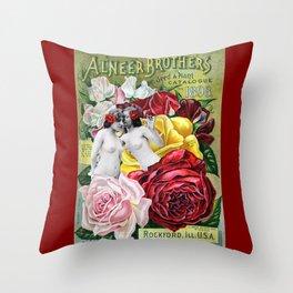 Sweet Roses Throw Pillow
