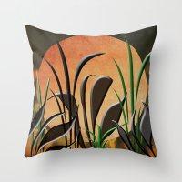 twilight Throw Pillows featuring Twilight by Judith Lee Folde Photography & Art