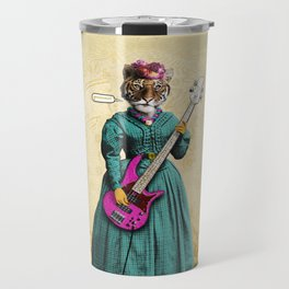 Tessy Tigress Shreds a Solo . . . Grrrrrr! Travel Mug