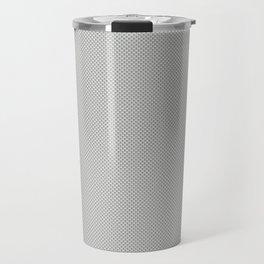 White & Grey Simulated Carbon Fiber Travel Mug