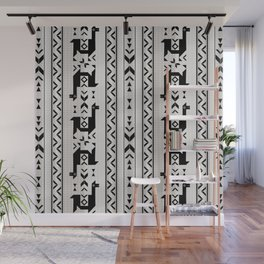 Llamas_Gray & Black Wall Mural
